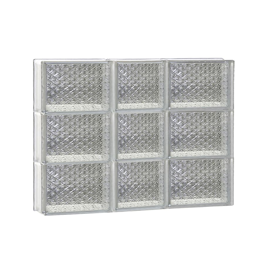 REDI2SET Diamond Pattern Frameless Replacement Glass Block Window (Rough Opening: 22-in x 18-in; Actual: 21.25-in x 17.25-in)