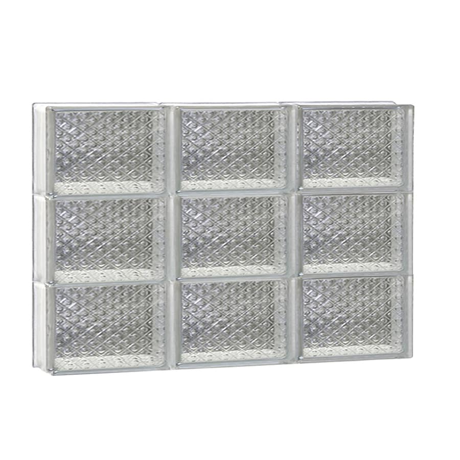 REDI2SET Diamond Glass Pattern Frameless Replacement Glass Block Window (Rough Opening: 24-in x 18-in; Actual: 23.25-in x 17.25-in)