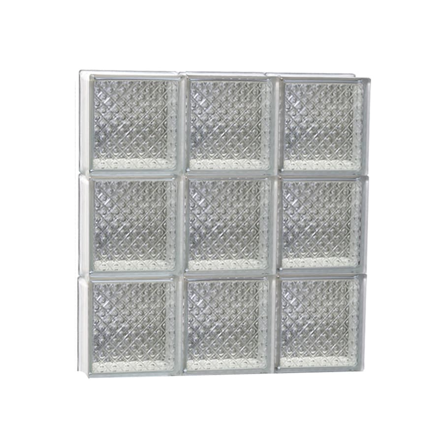 REDI2SET Diamond Glass Pattern Frameless Replacement Glass Block Window (Rough Opening: 24-in x 24-in; Actual: 23.25-in x 23.25-in)