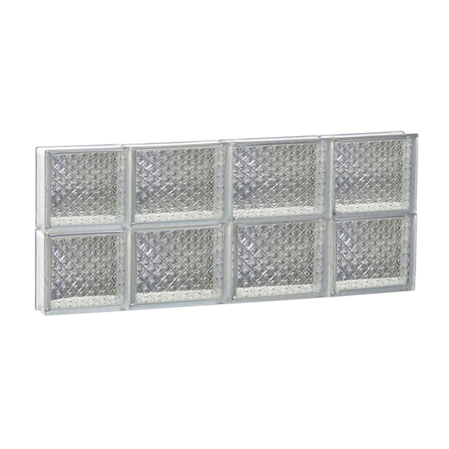 REDI2SET Diamond Glass Pattern Frameless Replacement Glass Block Window (Rough Opening: 28-in x 12-in; Actual: 27-in x 11.5-in)