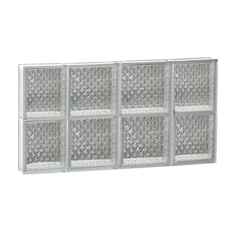 REDI2SET Diamond Glass Pattern Frameless Replacement Glass Block Window (Rough Opening: 28-in x 16-in; Actual: 27-in x 15.5-in)