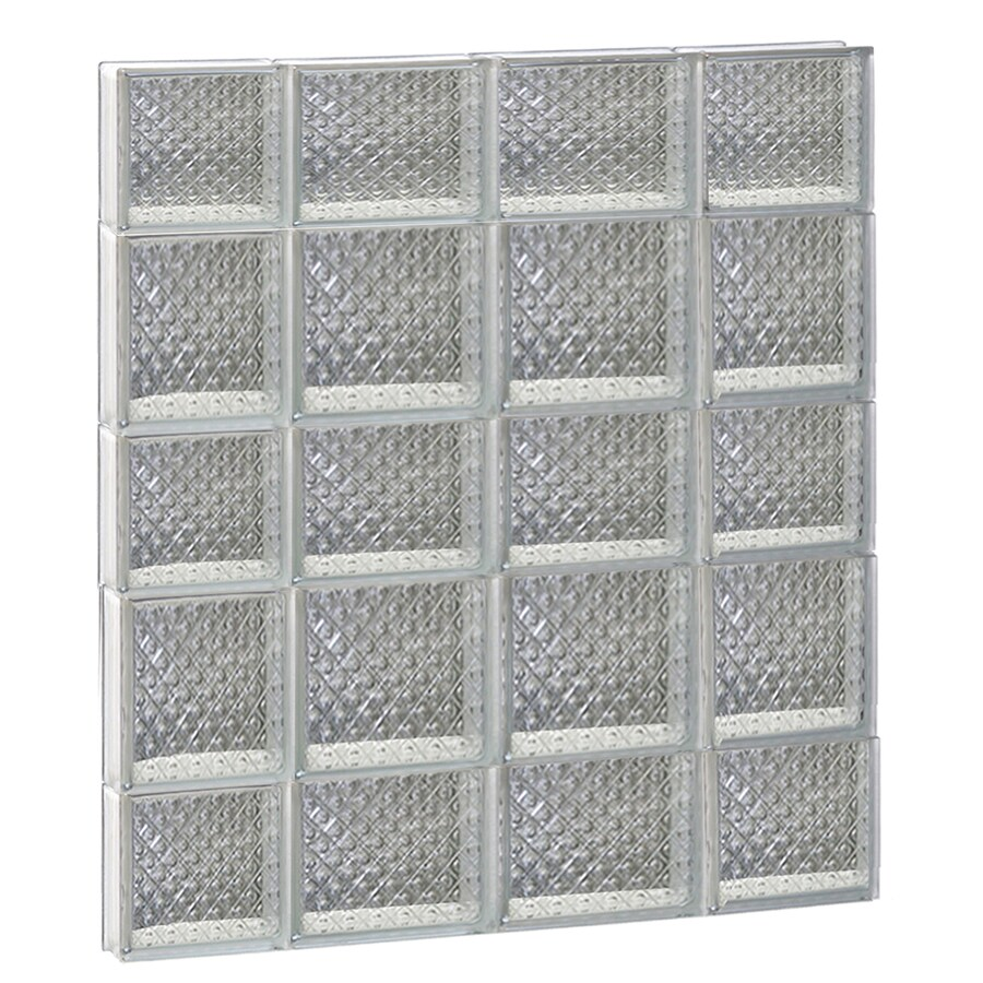 REDI2SET Diamond Glass Pattern Frameless Replacement Glass Block Window (Rough Opening: 28-in x 34-in; Actual: 27-in x 32.75-in)