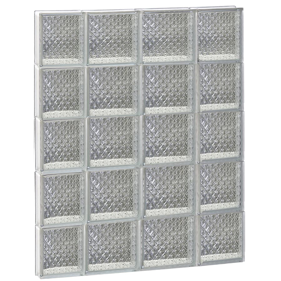 REDI2SET Diamond Glass Pattern Frameless Replacement Glass Block Window (Rough Opening: 28-in x 40-in; Actual: 27-in x 38.75-in)