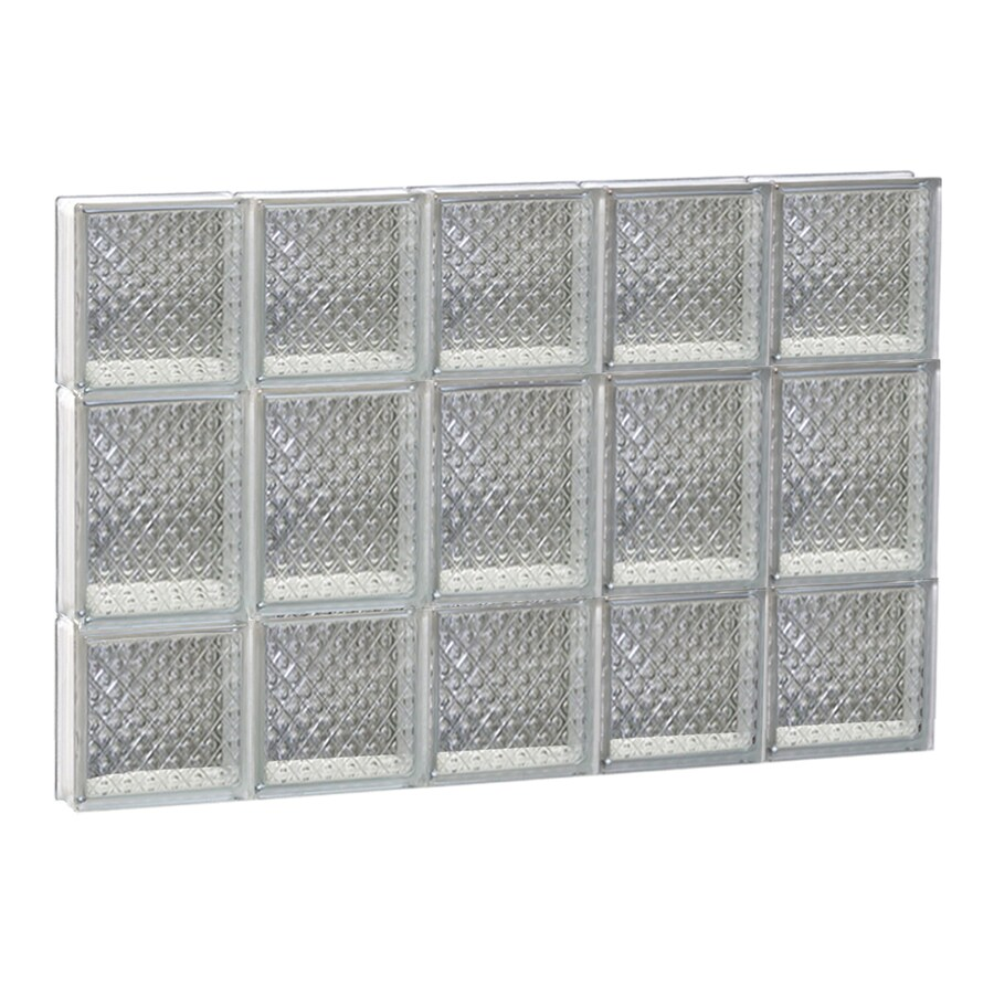 REDI2SET Diamond Pattern Frameless Replacement Glass Block Window (Rough Opening: 30-in x 20-in; Actual: 28.75-in x 19.25-in)