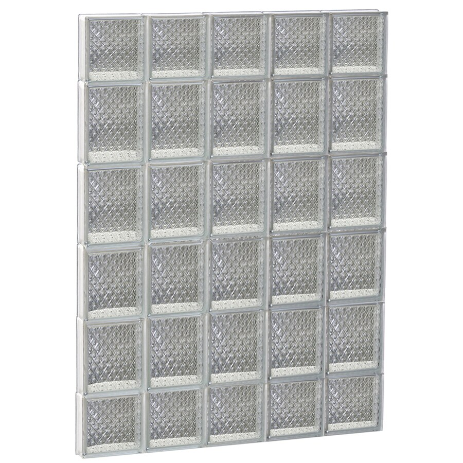 REDI2SET Diamond Pattern Frameless Replacement Glass Block Window (Rough Opening: 30-in x 44-in; Actual: 28.75-in x 42.5-in)