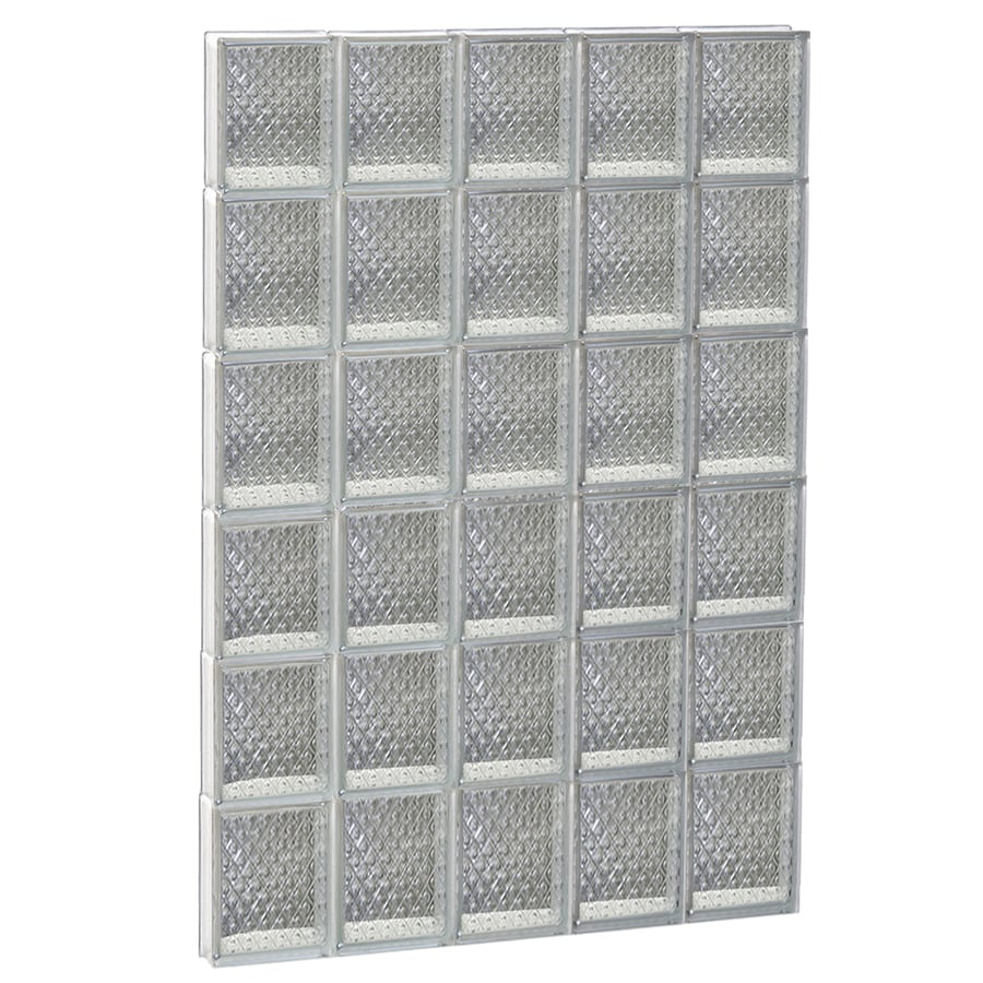 REDI2SET Diamond Glass Pattern Frameless Replacement Glass Block Window (Rough Opening: 30-in x 48-in; Actual: 28.75-in x 46.5-in)