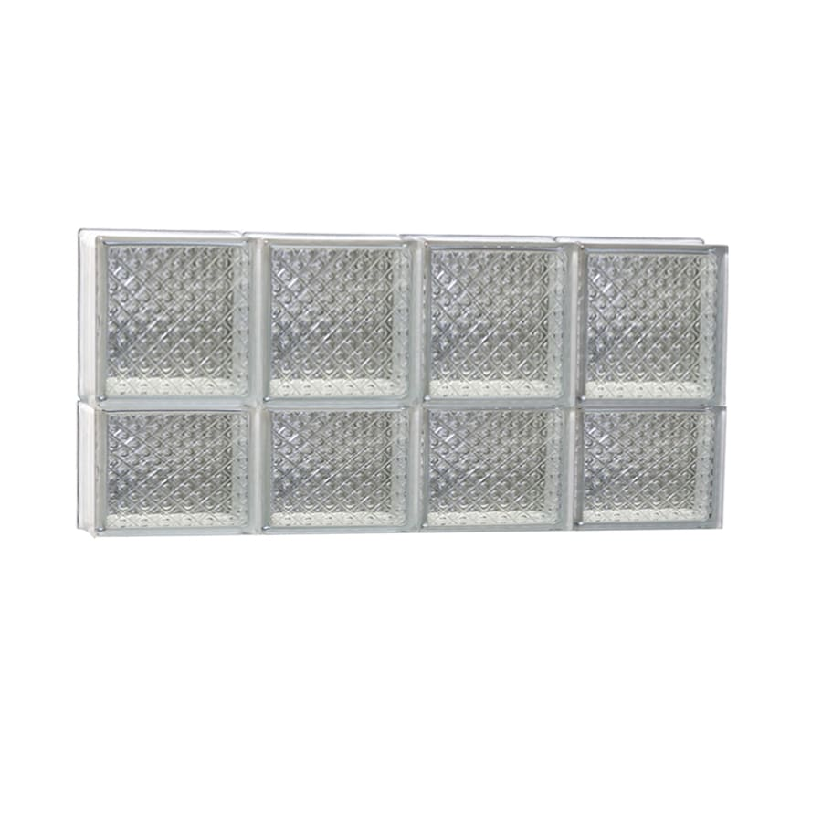 REDI2SET Diamond Glass Pattern Frameless Replacement Glass Block Window (Rough Opening: 32-in x 14-in; Actual: 31-in x 13.5-in)