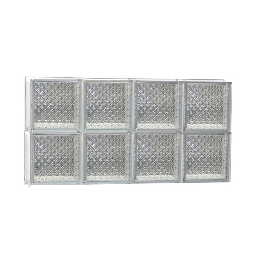 REDI2SET Diamond Pattern Frameless Replacement Glass Block Window (Rough Opening: 32-in x 16-in; Actual: 31-in x 15.5-in)