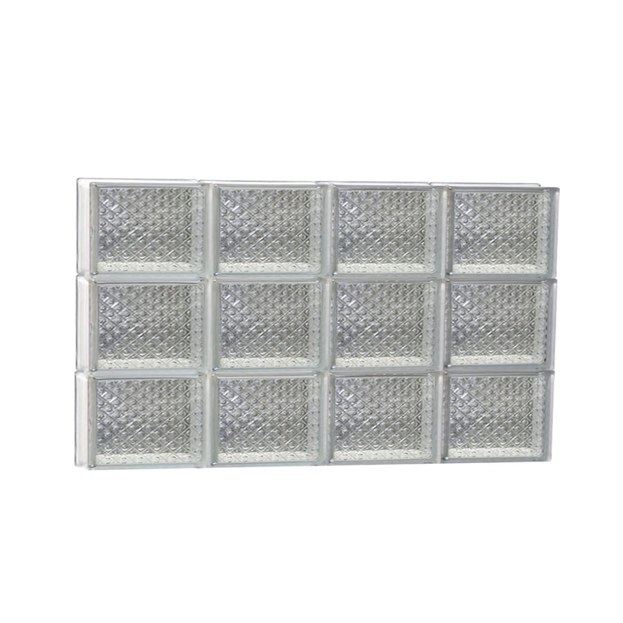 REDI2SET Diamond Glass Pattern Frameless Replacement Glass Block Window (Rough Opening: 32-in x 18-in; Actual: 31-in x 17.25-in)
