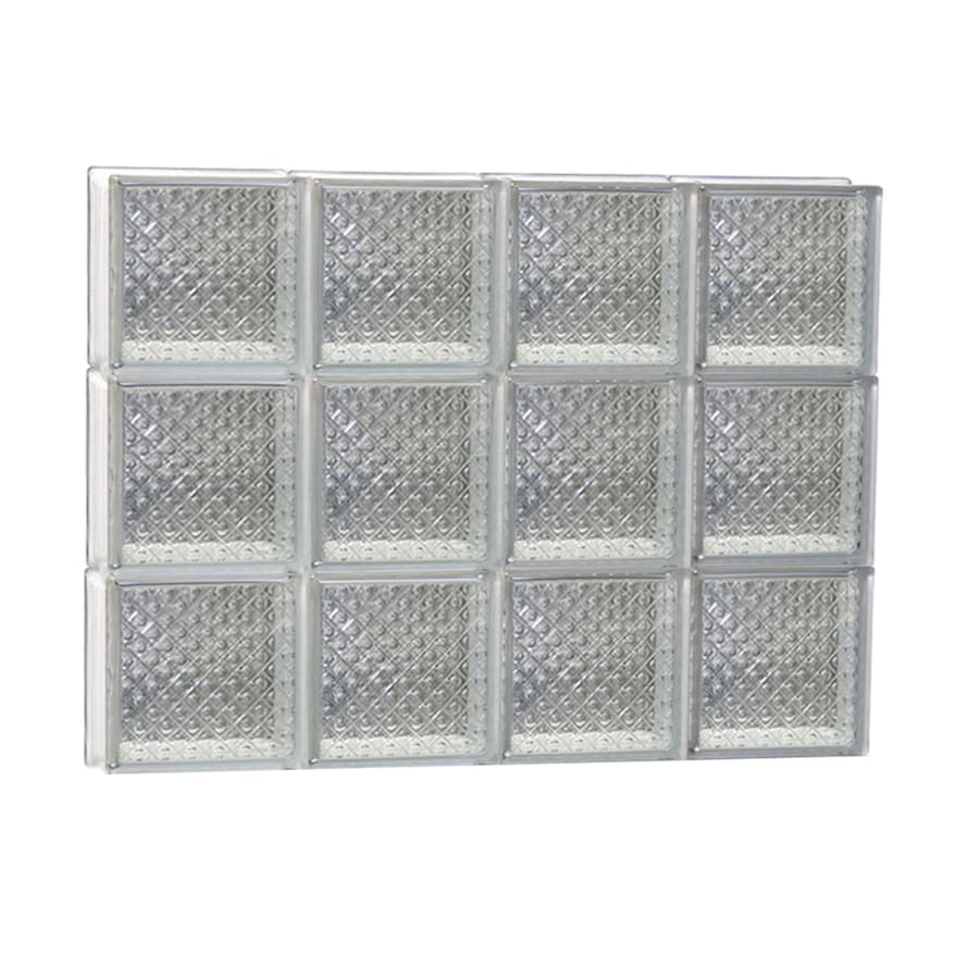 REDI2SET Diamond Glass Pattern Frameless Replacement Glass Block Window (Rough Opening: 32-in x 24-in; Actual: 31-in x 23.25-in)