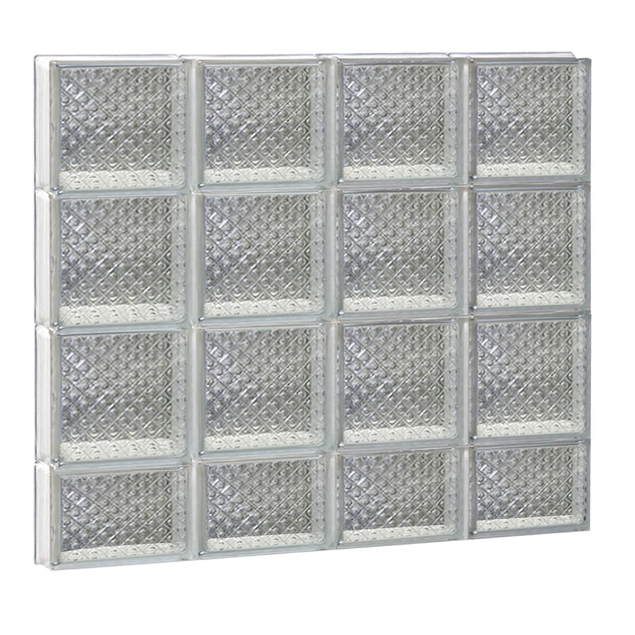 REDI2SET Diamond Pattern Frameless Replacement Glass Block Window (Rough Opening: 32-in x 30-in; Actual: 31-in x 29-in)