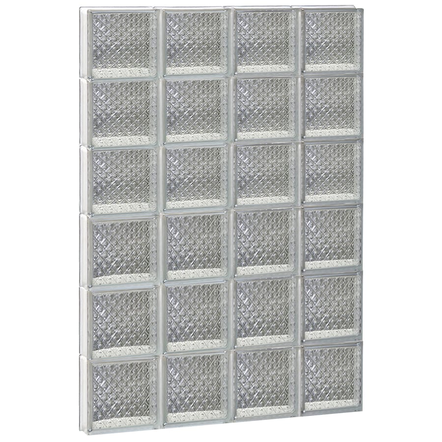 REDI2SET Diamond Glass Pattern Frameless Replacement Glass Block Window (Rough Opening: 32-in x 48-in; Actual: 31-in x 46.5-in)