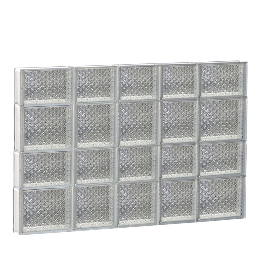 REDI2SET Diamond Glass Pattern Frameless Replacement Glass Block Window (Rough Opening: 34-in x 26-in; Actual: 32.7500-in x 25-in)