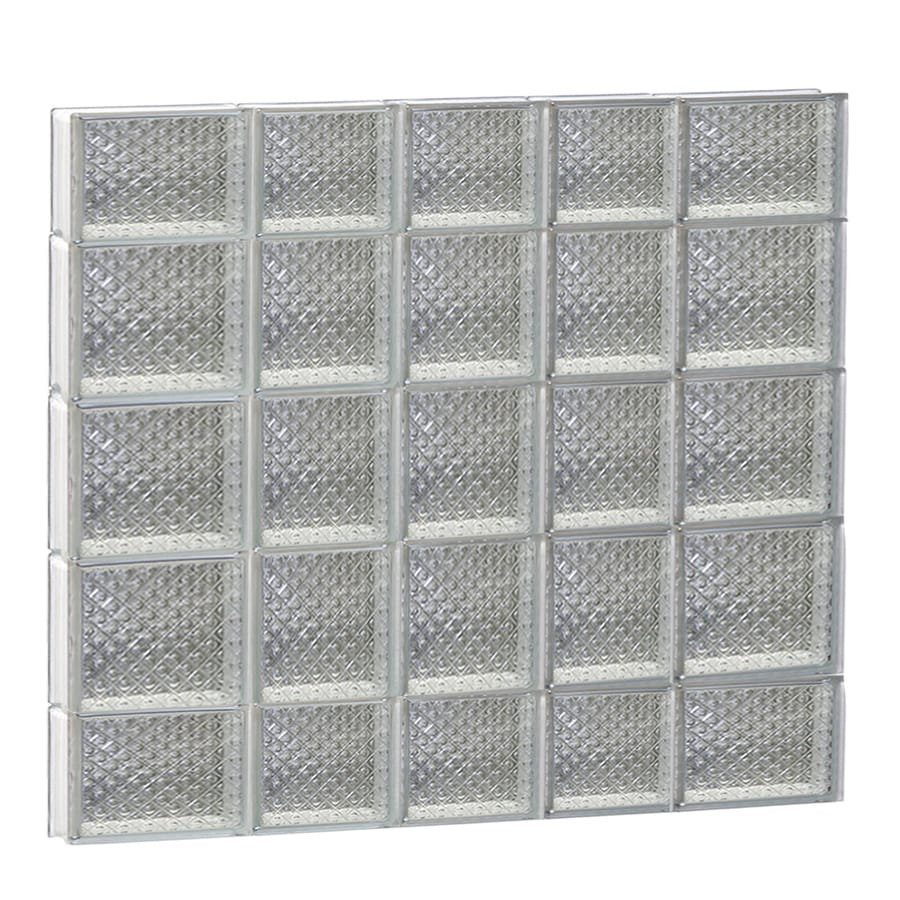 REDI2SET Diamond Pattern Frameless Replacement Glass Block Window (Rough Opening: 34-in x 36-in; Actual: 32.75-in x 34.75-in)