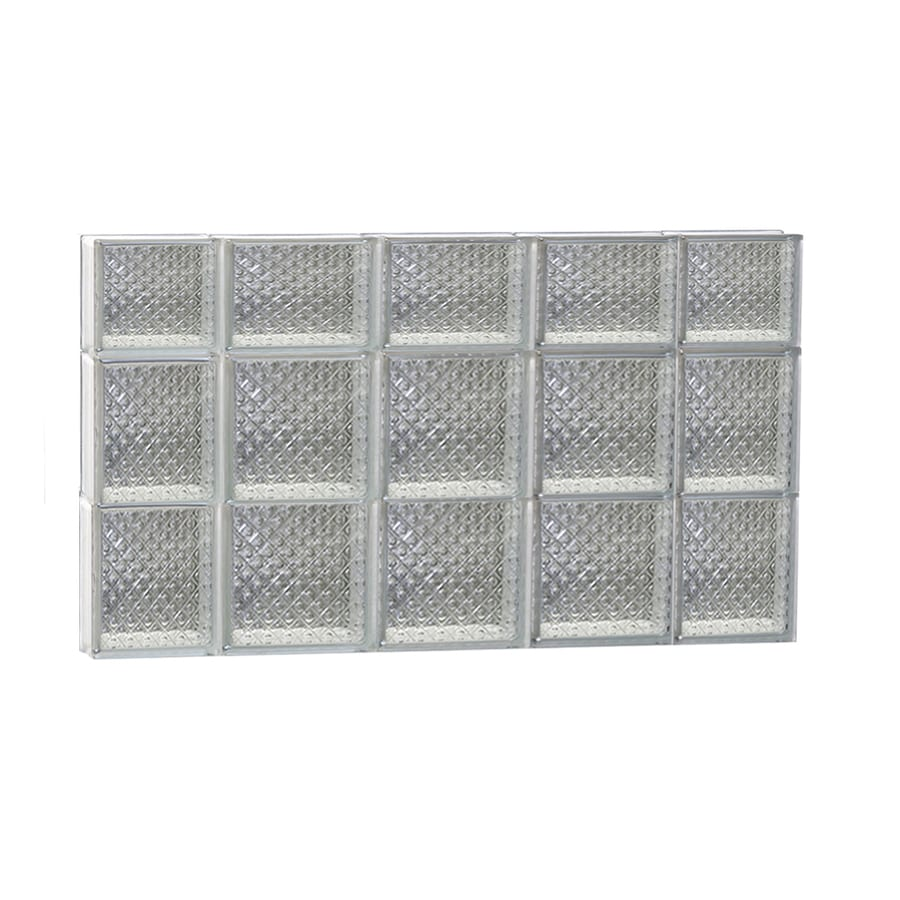 REDI2SET Diamond Glass Pattern Frameless Replacement Glass Block Window (Rough Opening: 36-in x 22-in; Actual: 34.75-in x 21.25-in)