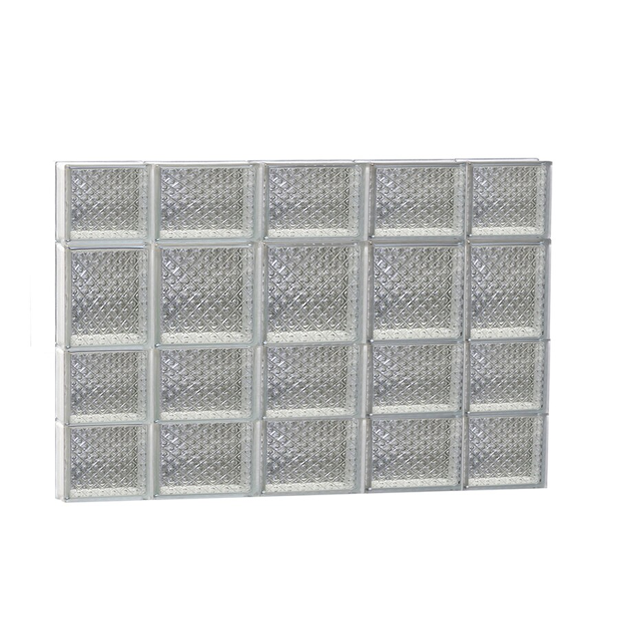 REDI2SET Diamond Glass Pattern Frameless Replacement Glass Block Window (Rough Opening: 36-in x 26-in; Actual: 34.75-in x 25-in)