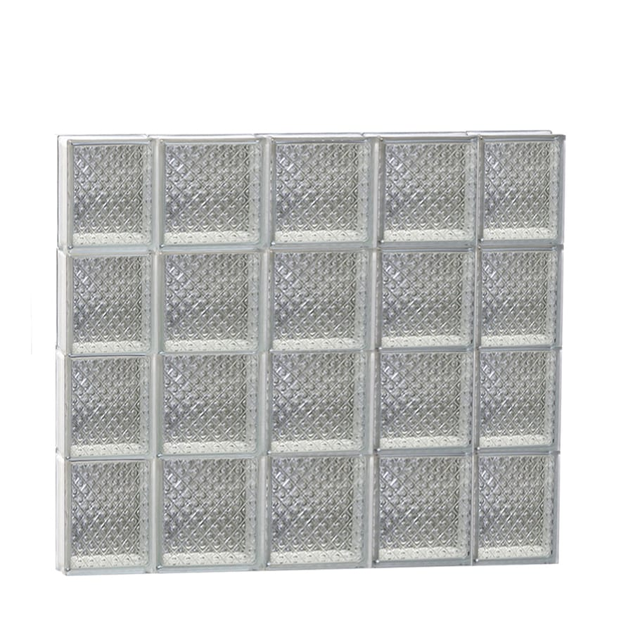 REDI2SET Diamond Glass Pattern Frameless Replacement Glass Block Window (Rough Opening: 36-in x 32-in; Actual: 34.75-in x 31-in)