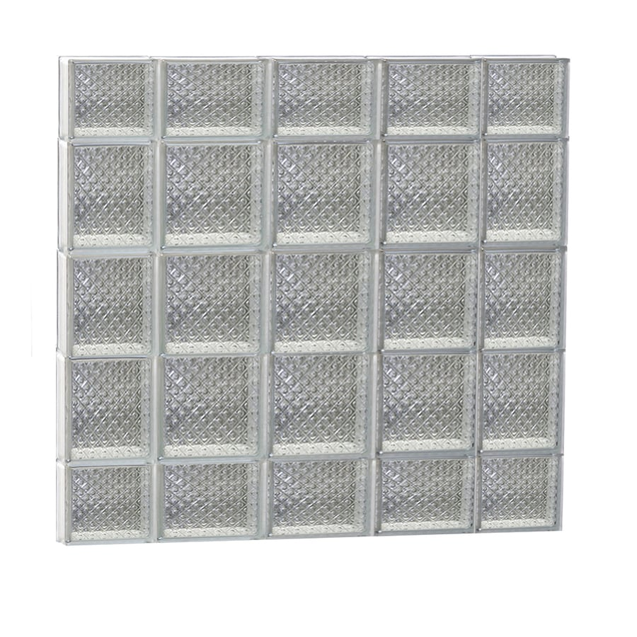 REDI2SET Diamond Pattern Frameless Replacement Glass Block Window (Rough Opening: 36-in x 36-in; Actual: 34.75-in x 34.75-in)
