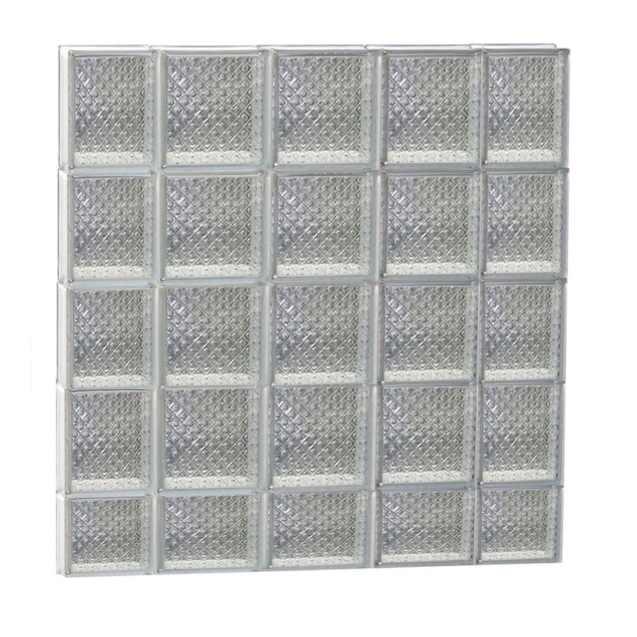 REDI2SET Diamond Glass Pattern Frameless Replacement Glass Block Window (Rough Opening: 36-in x 38-in; Actual: 34.75-in x 36.75-in)