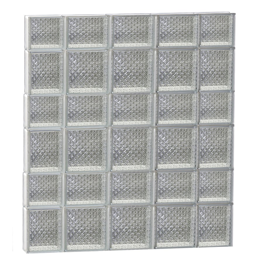 REDI2SET Diamond Glass Pattern Frameless Replacement Glass Block Window (Rough Opening: 36-in x 42-in; Actual: 34.75-in x 40.5-in)