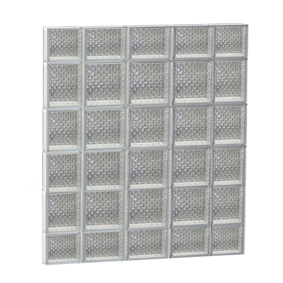 REDI2SET Diamond Pattern Frameless Replacement Glass Block Window (Rough Opening: 36-in x 44-in; Actual: 34.75-in x 42.5-in)