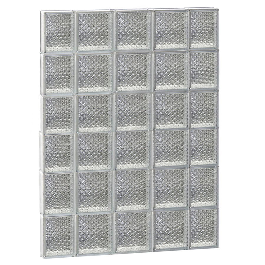 REDI2SET Diamond Glass Pattern Frameless Replacement Glass Block Window (Rough Opening: 36-in x 48-in; Actual: 34.75-in x 46.5-in)