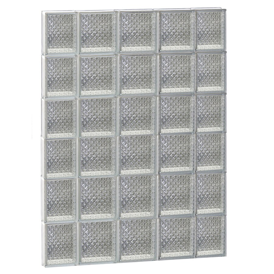 REDI2SET Diamond Glass Pattern Frameless Replacement Glass Block Window (Rough Opening: 36-in x 48-in; Actual: 34.7500-in x 46.5000-in)