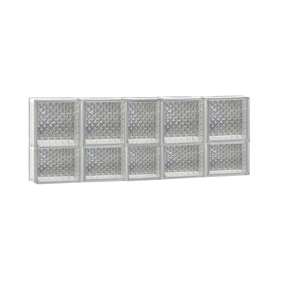 REDI2SET Diamond Glass Pattern Frameless Replacement Glass Block Window (Rough Opening: 38-in x 14-in; Actual: 36.75-in x 13.5-in)