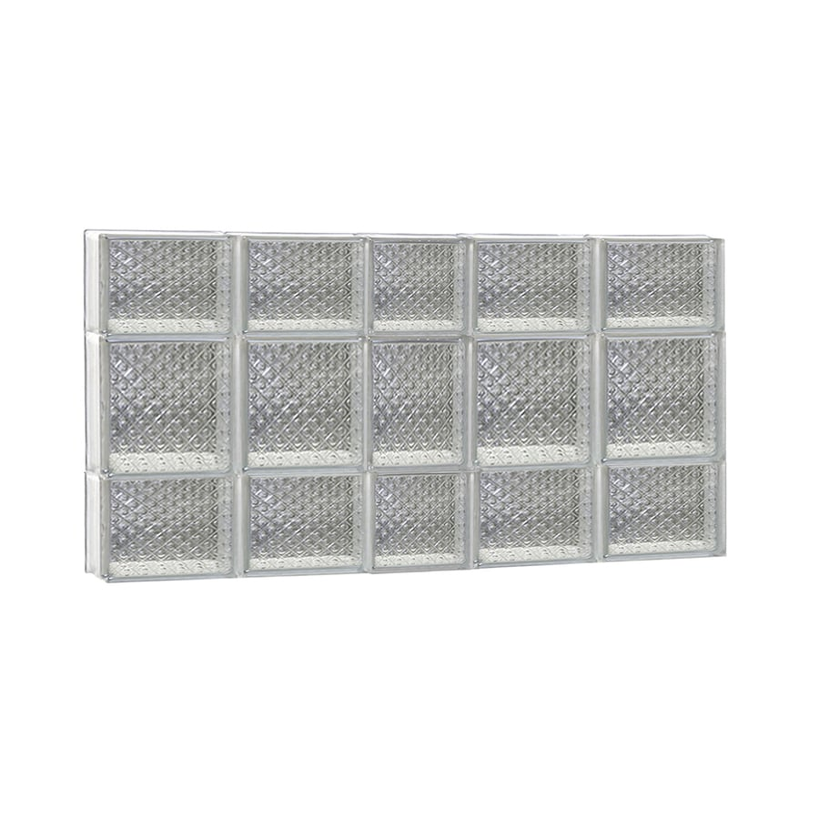 REDI2SET Diamond Glass Pattern Frameless Replacement Glass Block Window (Rough Opening: 38-in x 20-in; Actual: 36.7500-in x 19.2500-in)