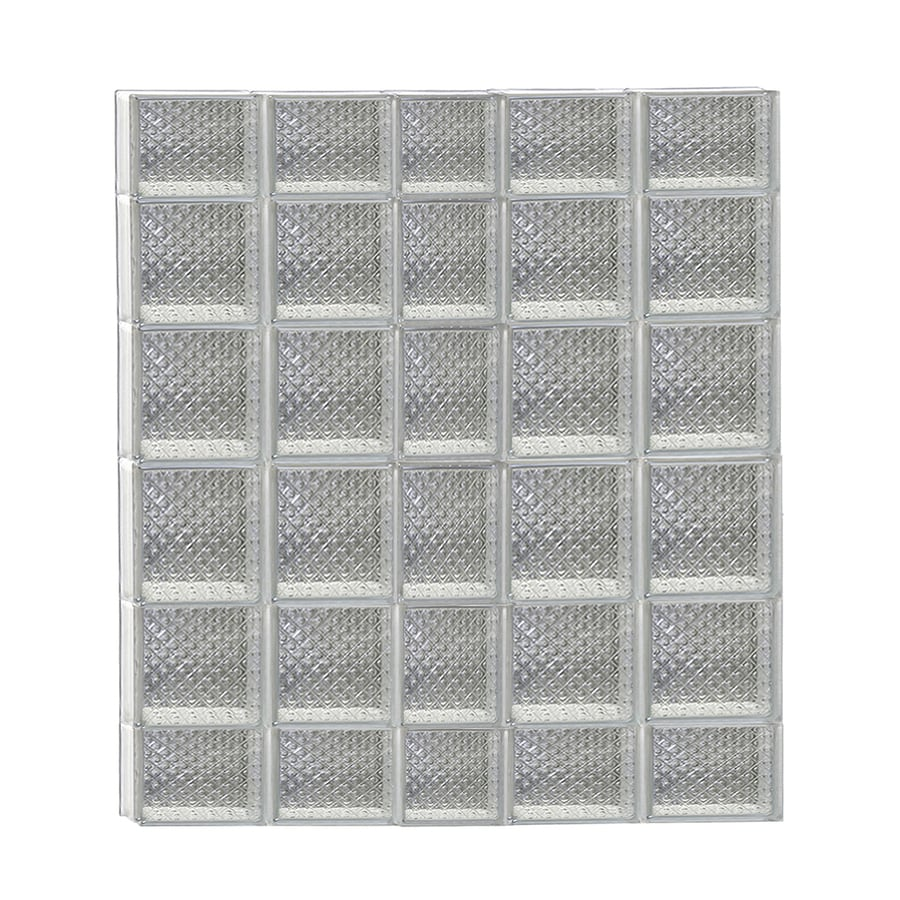 REDI2SET Diamond Glass Pattern Frameless Replacement Glass Block Window (Rough Opening: 38-in x 44-in; Actual: 36.75-in x 42.5-in)