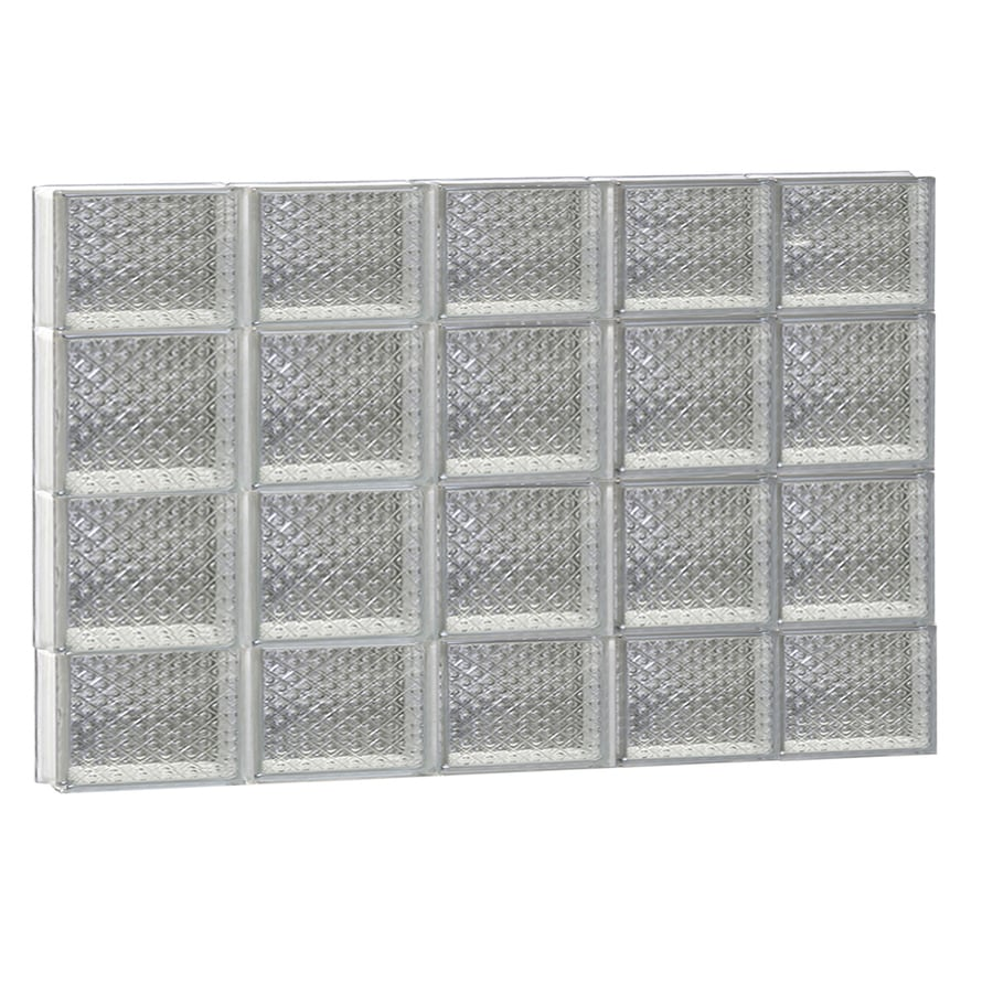 REDI2SET Diamond Pattern Frameless Replacement Glass Block Window (Rough Opening: 40-in x 28-in; Actual: 38.75-in x 27-in)