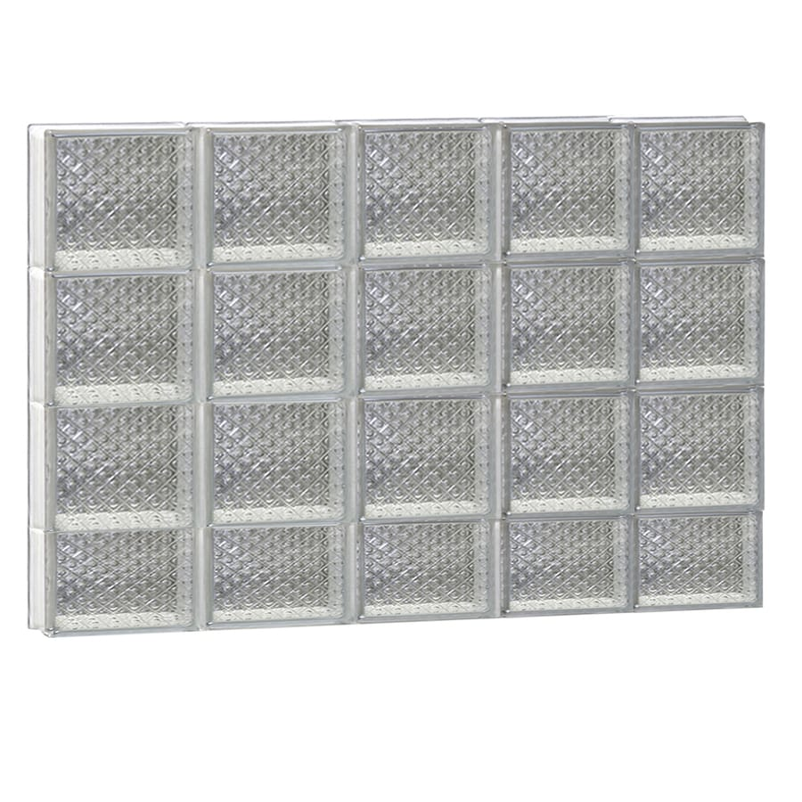 REDI2SET Diamond Glass Pattern Frameless Replacement Glass Block Window (Rough Opening: 40-in x 30-in; Actual: 38.7500-in x 29-in)