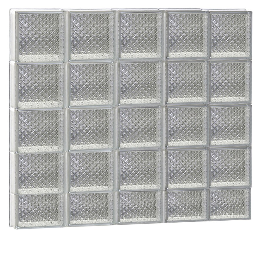 REDI2SET Diamond Glass Pattern Frameless Replacement Glass Block Window (Rough Opening: 40-in x 38-in; Actual: 38.75-in x 36.75-in)