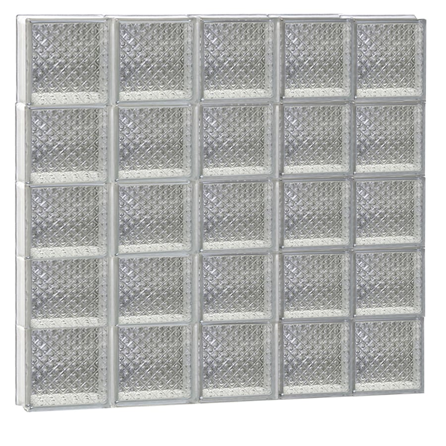 REDI2SET Diamond Glass Pattern Frameless Replacement Glass Block Window (Rough Opening: 40-in x 40-in; Actual: 38.75-in x 38.75-in)