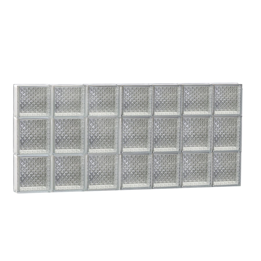 REDI2SET Diamond Pattern Frameless Replacement Glass Block Window (Rough Opening: 42-in x 22-in; Actual: 40.25-in x 21.25-in)