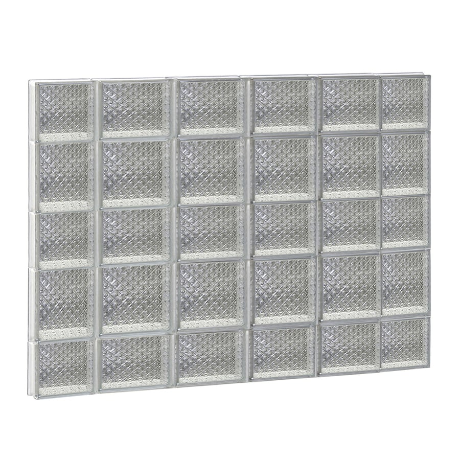 REDI2SET Diamond Glass Pattern Frameless Replacement Glass Block Window (Rough Opening: 44-in x 34-in; Actual: 42.5-in x 32.75-in)