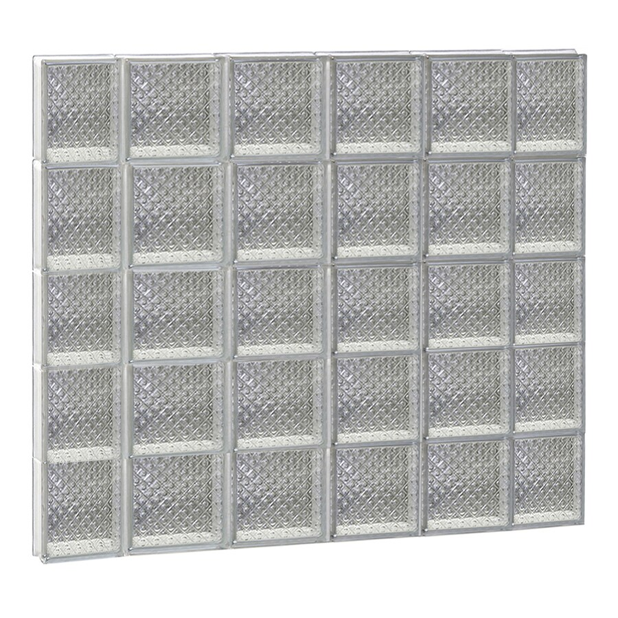 REDI2SET Diamond Glass Pattern Frameless Replacement Glass Block Window (Rough Opening: 44-in x 40-in; Actual: 42.5000-in x 38.7500-in)