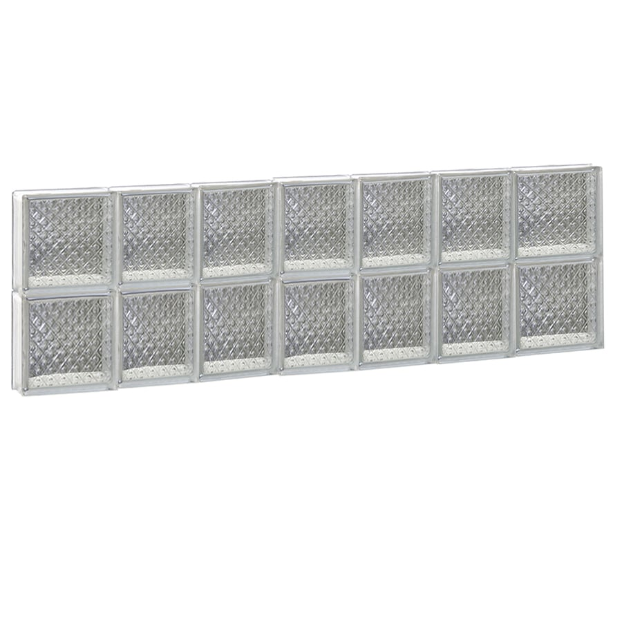 REDI2SET Diamond Glass Pattern Frameless Replacement Glass Block Window (Rough Opening: 46-in x 16-in; Actual: 44.2500-in x 15.5000-in)