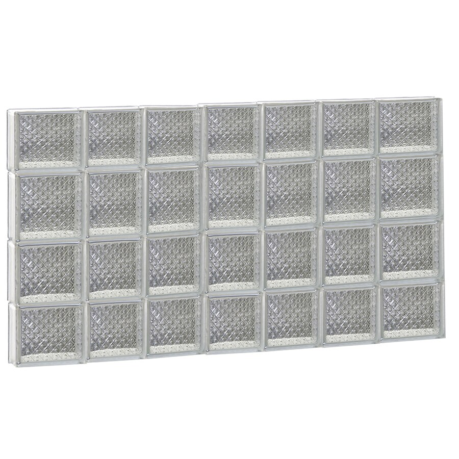 REDI2SET Diamond Pattern Frameless Replacement Glass Block Window (Rough Opening: 46-in x 28-in; Actual: 44.25-in x 27-in)