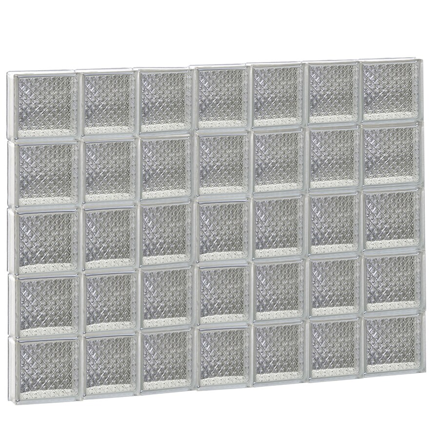 REDI2SET Diamond Glass Pattern Frameless Replacement Glass Block Window (Rough Opening: 46-in x 38-in; Actual: 44.25-in x 36.75-in)