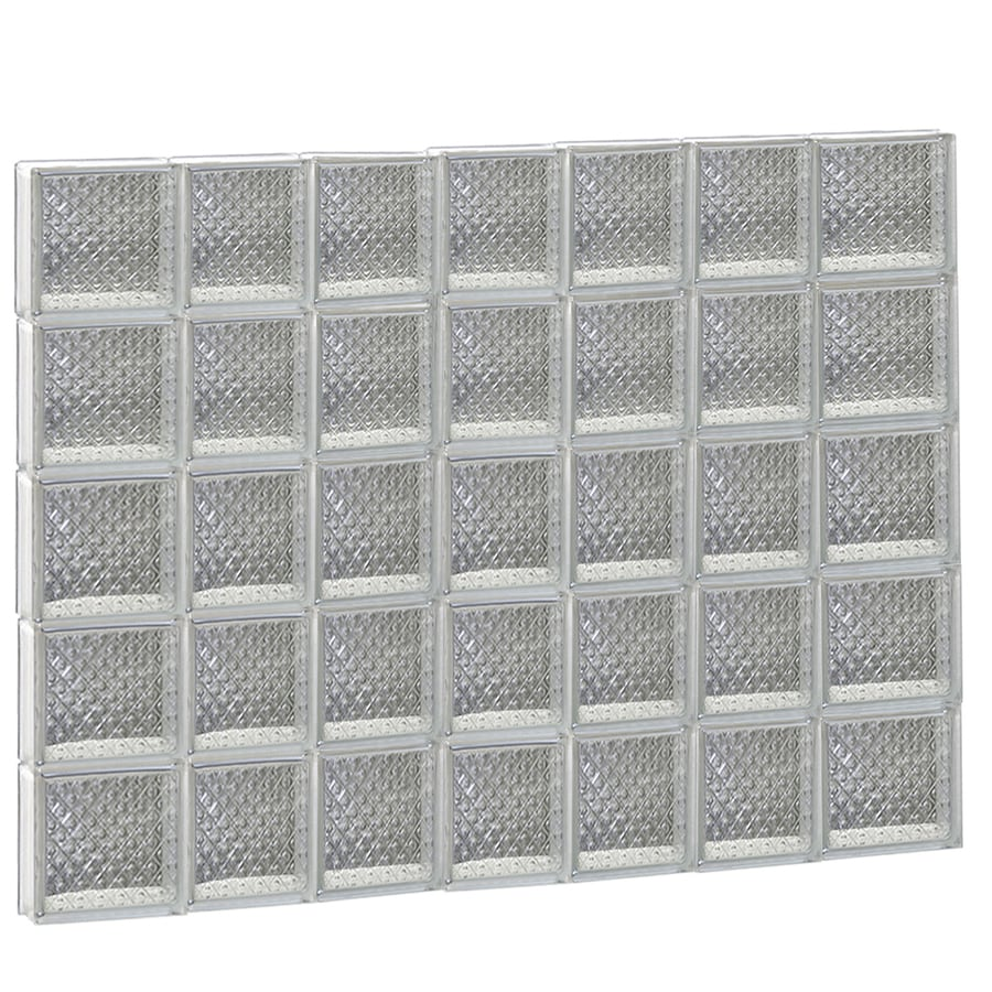 REDI2SET Diamond Glass Pattern Frameless Replacement Glass Block Window (Rough Opening: 46-in x 40-in; Actual: 44.2500-in x 38.7500-in)