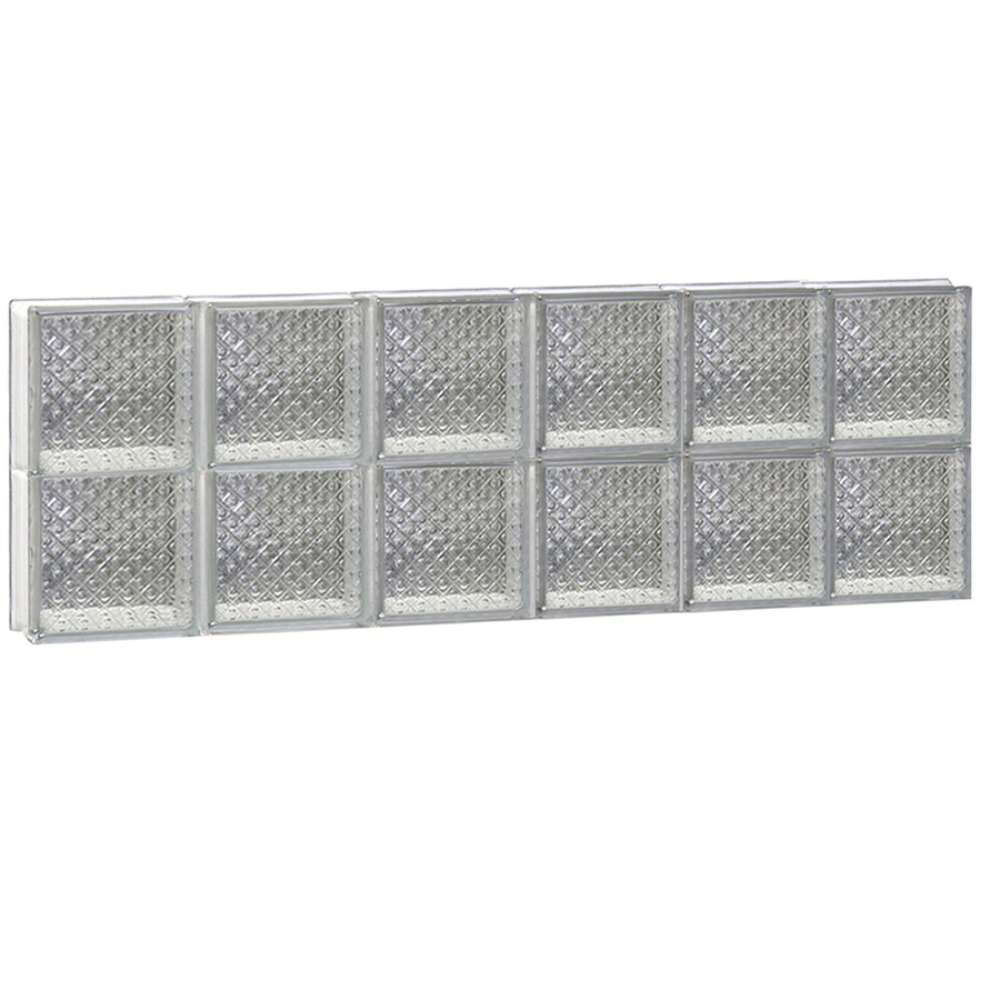 REDI2SET Diamond Glass Pattern Frameless Replacement Glass Block Window (Rough Opening: 48-in x 16-in; Actual: 46.5-in x 15.5-in)