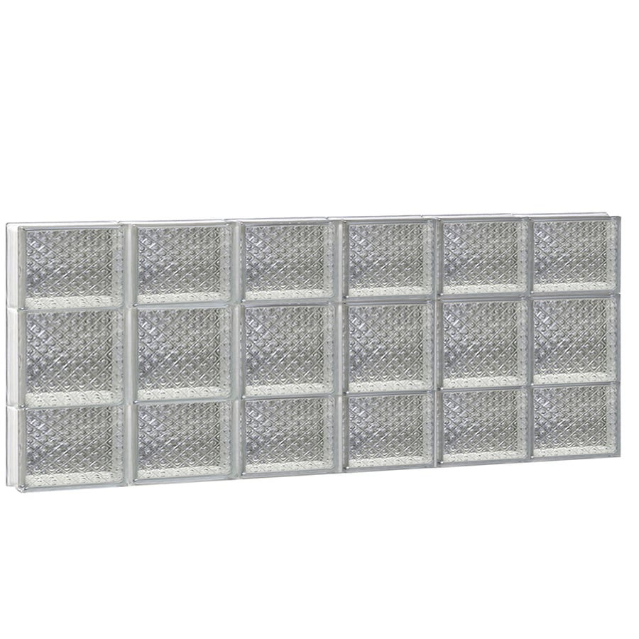 REDI2SET Diamond Glass Pattern Frameless Replacement Glass Block Window (Rough Opening: 48-in x 20-in; Actual: 46.5000-in x 19.2500-in)