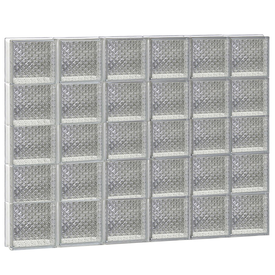 REDI2SET Diamond Glass Pattern Frameless Replacement Glass Block Window (Rough Opening: 48-in x 40-in; Actual: 46.5-in x 38.75-in)