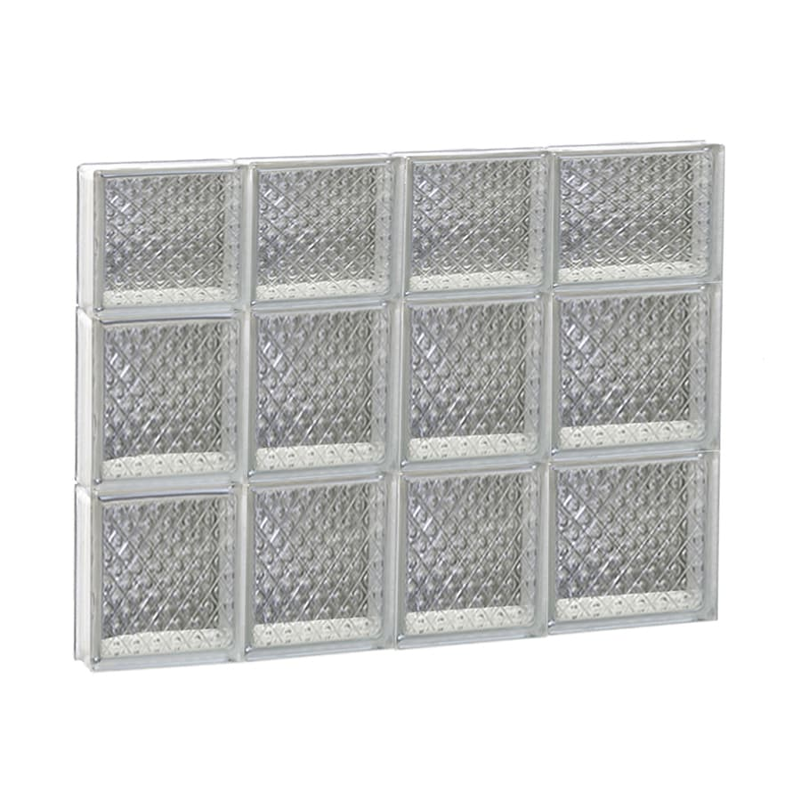 REDI2SET Diamond Glass Pattern Frameless Replacement Glass Block Window (Rough Opening: 26-in x 22-in; Actual: 25-in x 21.2500-in)