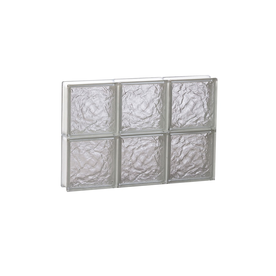 REDI2SET Ice Glass Pattern Frameless Replacement Block Window (Rough Opening: 18-in x 12-in; Actual: 17.25-in x 11.5-in)
