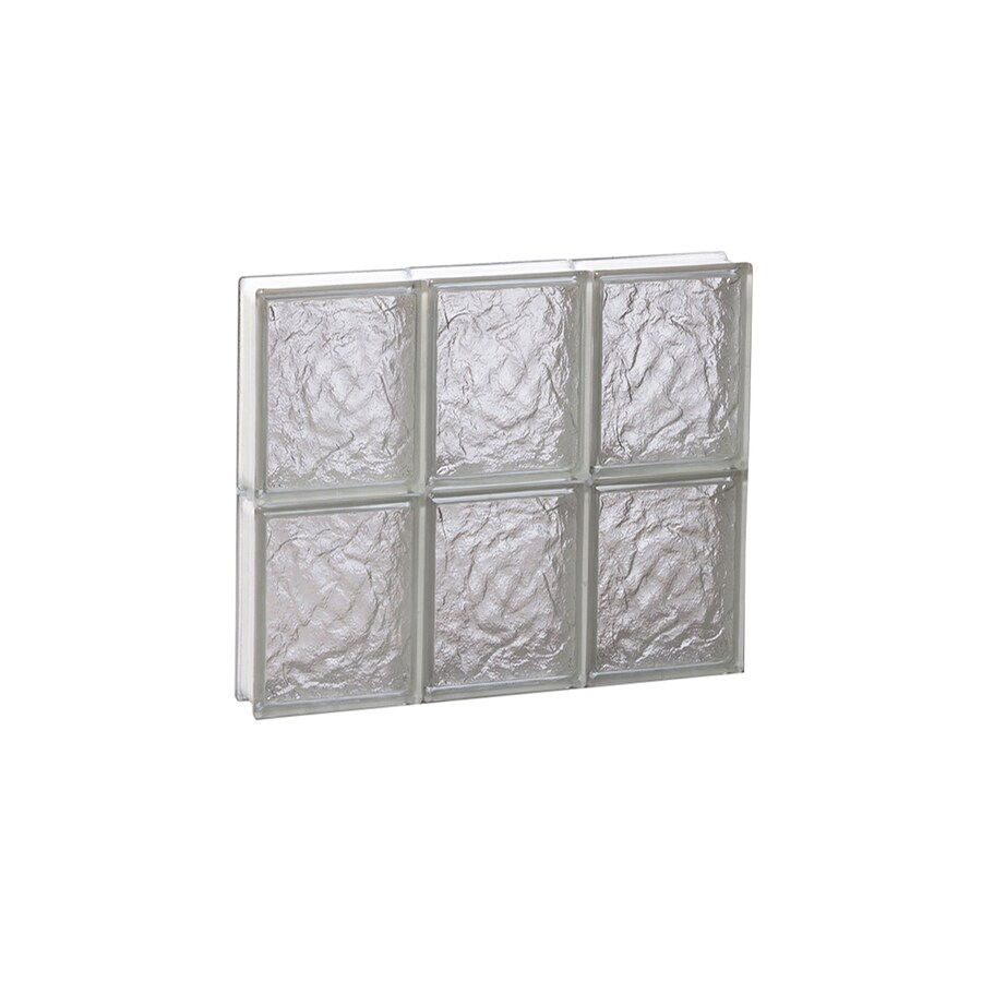 REDI2SET Ice Glass Pattern Frameless Replacement Block Window (Rough Opening: 18-in x 16-in; Actual: 17.25-in x 15.5-in)