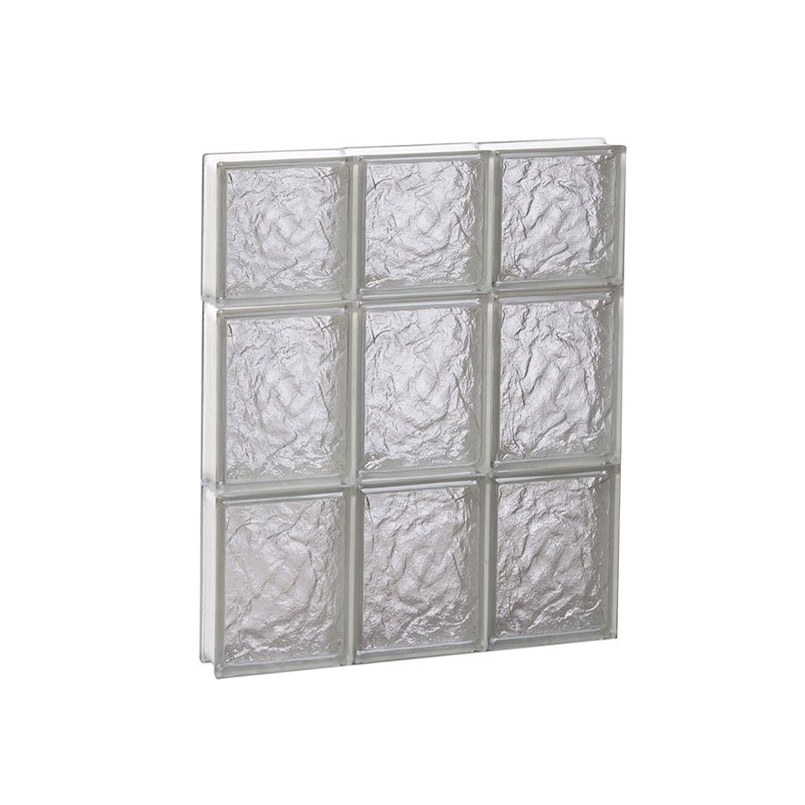 REDI2SET Ice Glass Pattern Frameless Replacement Block Window (Rough Opening: 18-in x 22-in; Actual: 17.25-in x 21.25-in)