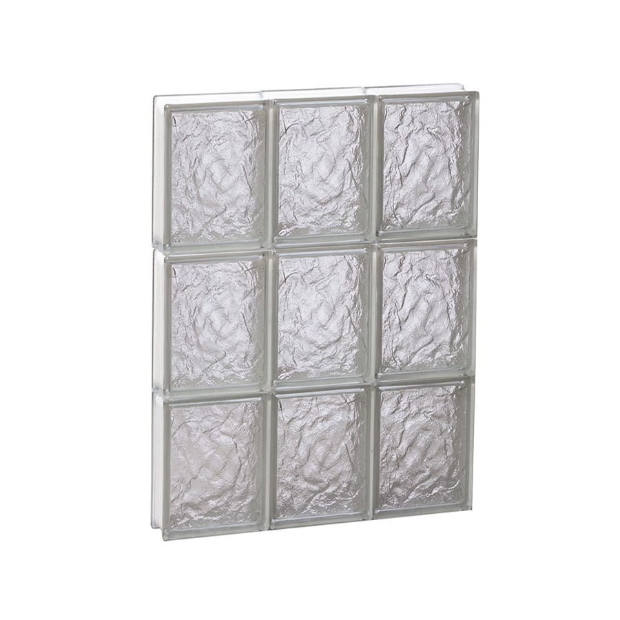 REDI2SET Ice Glass Pattern Frameless Replacement Block Window (Rough Opening: 18-in x 24-in; Actual: 17.25-in x 23.25-in)