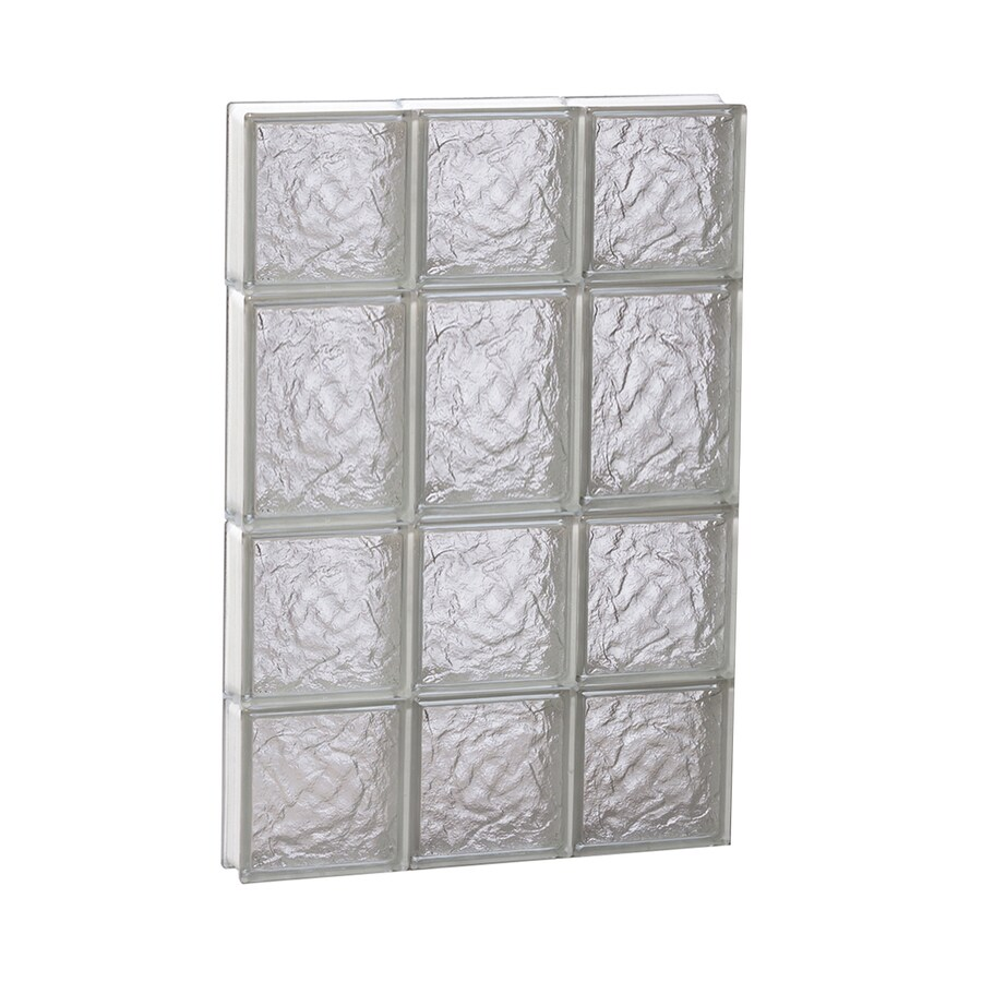 REDI2SET Ice Glass Pattern Frameless Replacement Block Window (Rough Opening: 18-in x 26-in; Actual: 17.25-in x 25-in)